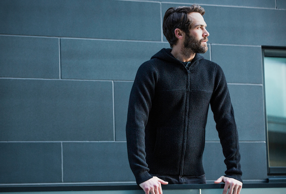 AETHER Hooded Cashmere Sweater | Image