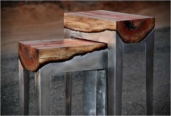 Aluminum And Wood Furniture | By Hilla Shamia | Image