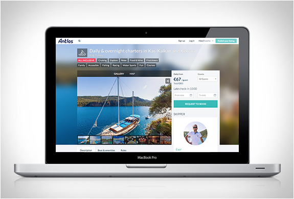 ANTLOS | AIRBNB FOR BOAT HOLIDAYS | Image