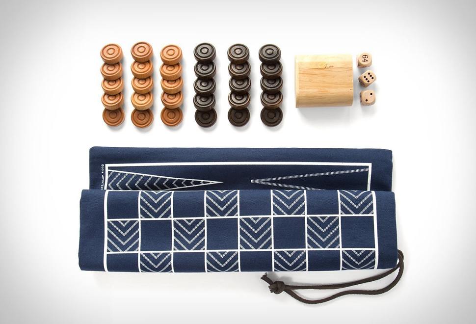 BACKGAMMON AND CHECKERS TRAVEL BAG | Image