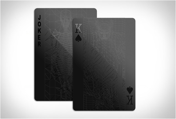 BLACK PLAYING CARDS | BY BALANCE WU DESIGN | Image