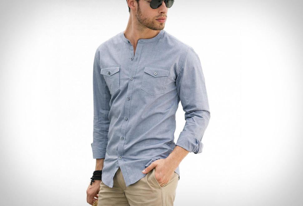 BATCH COLLARLESS SHIRT | Image