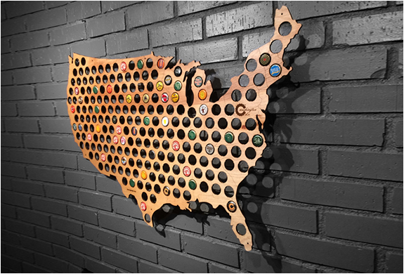 BEER CAP MAPS | Image
