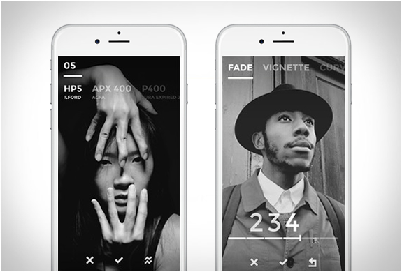Black | Black & White Film Emulator App | Image