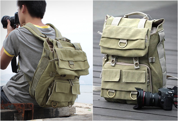 CANVAS CAMERA BACKPACK | BY CAREELL | Image