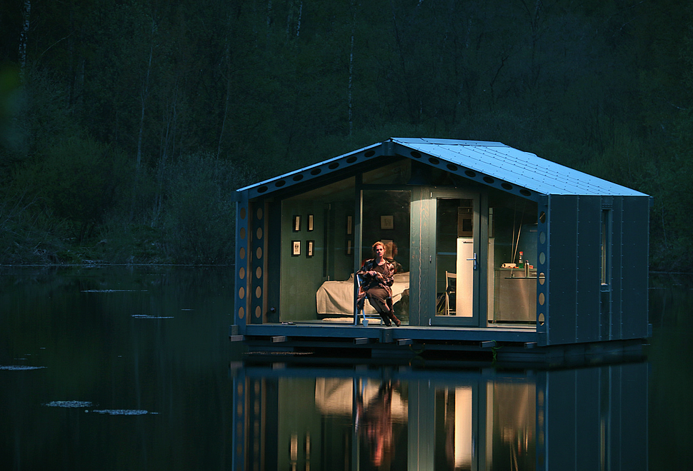 Dd16 floating cabin - Floating prefabricated home ...