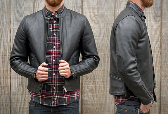 Deus Cafe Racer Leather Jacket