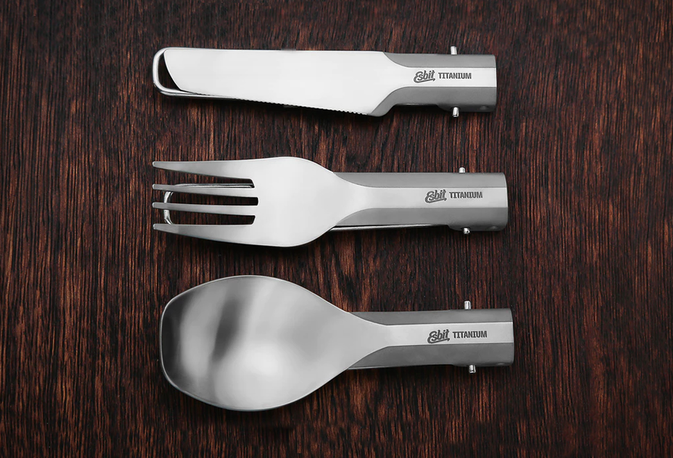 Esbit Folding Titanium Utensils | Image