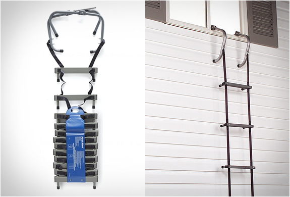 PORTABLE HOME FIRE ESCAPE LADDER | Image