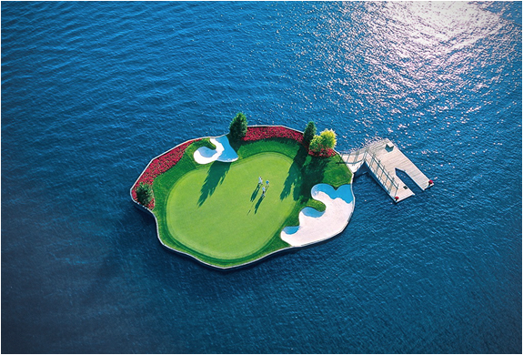 FLOATING GREEN | COEUR DALENE GOLF COURSE | Image