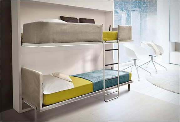Luxury giulio manzoni pull down bunk bed