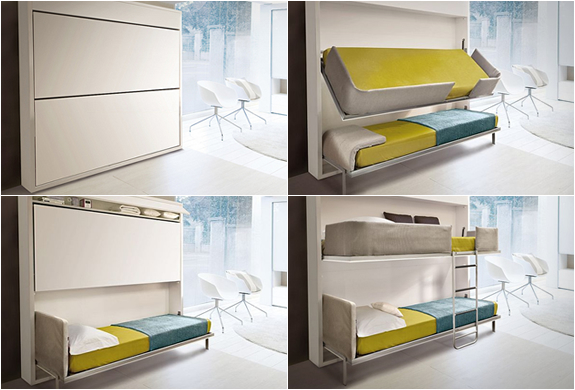 PULL-DOWN BUNK BED | BY GIULIO MANZONI | Image