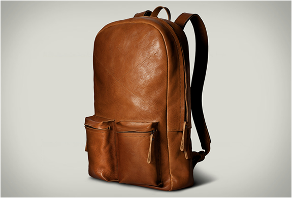 Old School Laptop Rucksack | By Hard Graft | Image