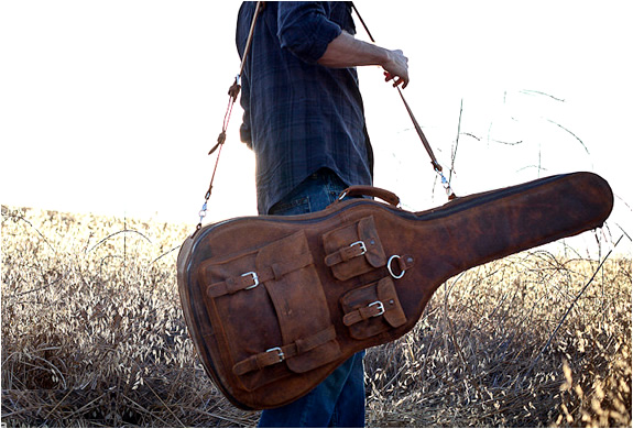 Vintage Leather Guitar Case | Image