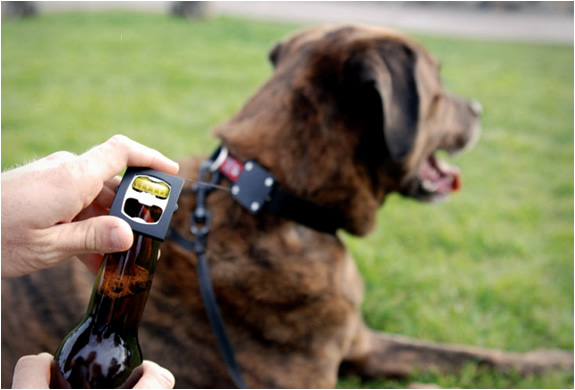 BARK BEER | DOG COLLAR BOTTLE OPENER | Image