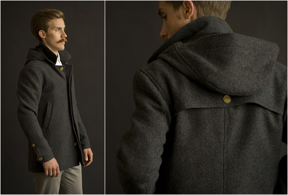 PARKA WOOL COAT | BY BARON WELLS | Image