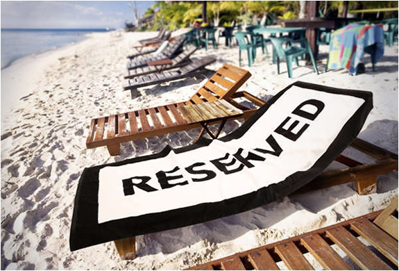 RESERVED BEACH TOWEL | Image