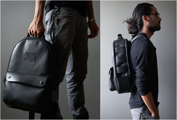 BLACK LEATHER UTILITY BACKPACK | BY KILLSPENCER | Image