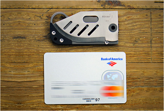 SMALL CREDIT CARD KNIFE | BY BOKER | Image