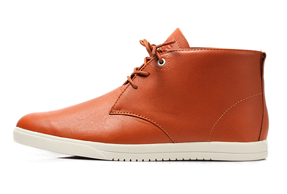 STRAYHORN CARAMEL LEATHER SHOES | BY CLAE | Image