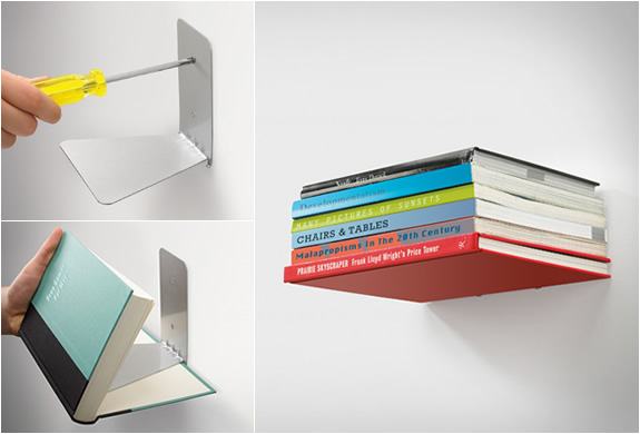 CONCEAL SHELF | INVISIBLE BOOKSHELF | Image