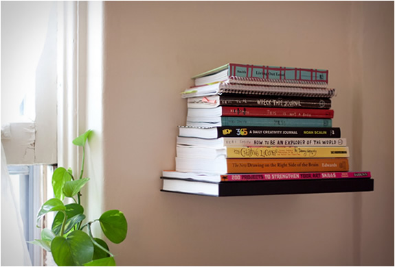 Proudly showcase your favorite titles without the bulk of a bookcase ...