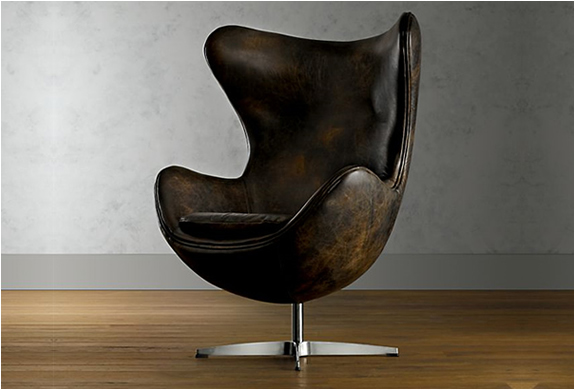 1950 LEATHER COMPENHAGEN CHAIR | BY RESTORATION HARDWARE | Image