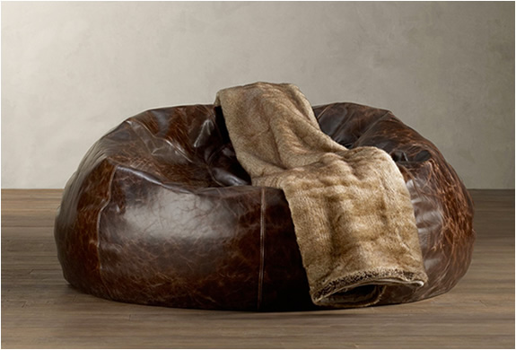Grand Leather Bean Bag | By Restoration Hardware | Image