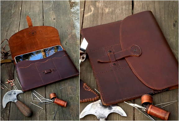 HAND STITCHED LEATHER IPAD CASE | Image