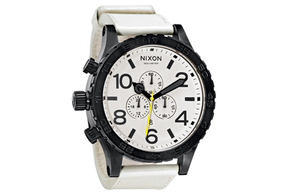 NIXON 51-30 CHRONO LEATHER WATCH | Image