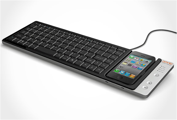 WOW KEYS IPHONE KEYBOARD DOCK | BY OMNIO | Image