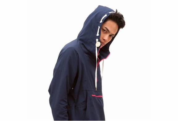 OPEN CEREMONY NAVY PULLOVER PARKA | Image