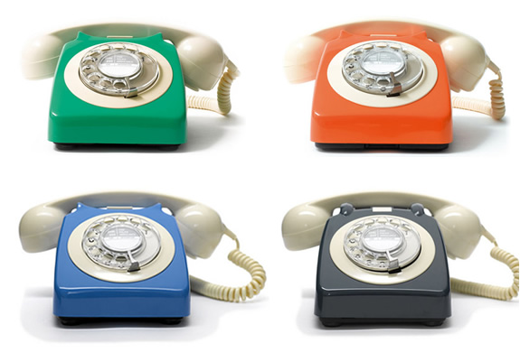 COLORFUL VINTAGE TELEPHONES | Image