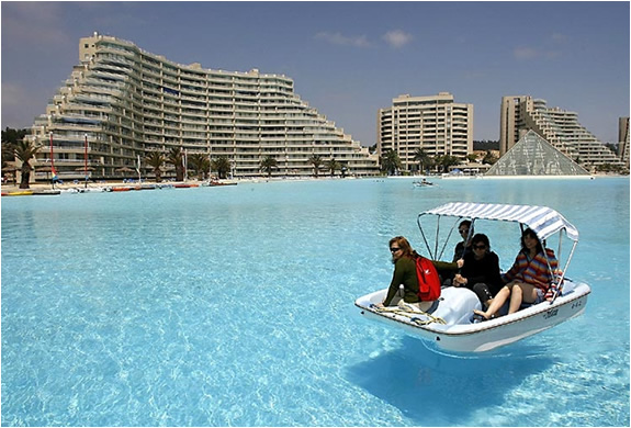 Worlds Largest Swimming Pool San Alfonso Del Mar Resort Chile