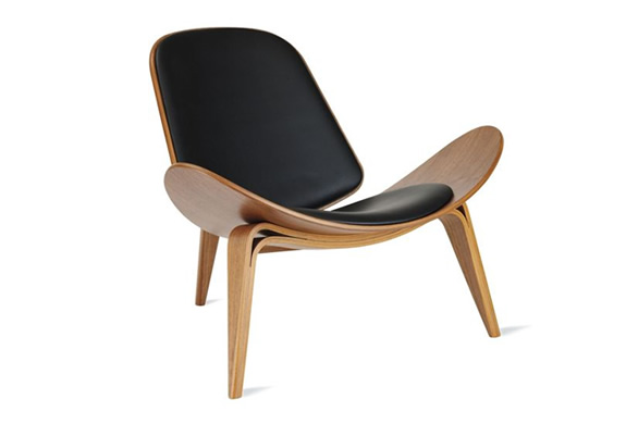 shell chair by hans j wegner. Black Bedroom Furniture Sets. Home Design Ideas