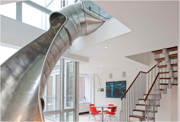 DUPLEX APARTMENT IN NY WITH A SLIDE | BY TURETT COLLABORATIVE ARCHITECTS | Image