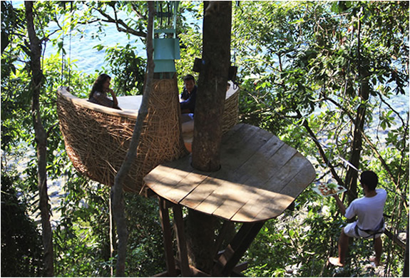 Tree Dining Pod Soneva Kiri Resort Thailand