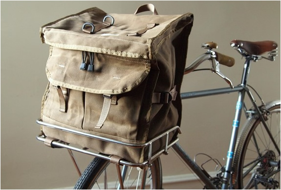 WAXED PORTEUR RACK PACK | BY LAPLANDER BAGS | Image