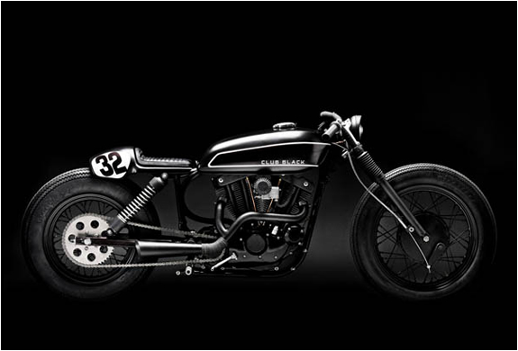 Custom Built Club Black #02 Motorcycle | By Wrenchmonkees | Image