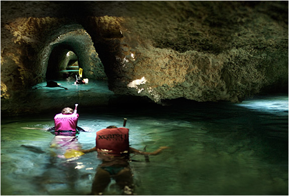 Snorkel The Underground Rivers At Xcaret | Mexico | Image