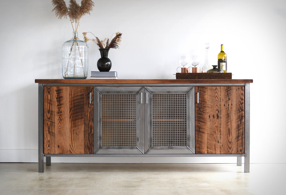 Industrial Modern Storage Console | Image
