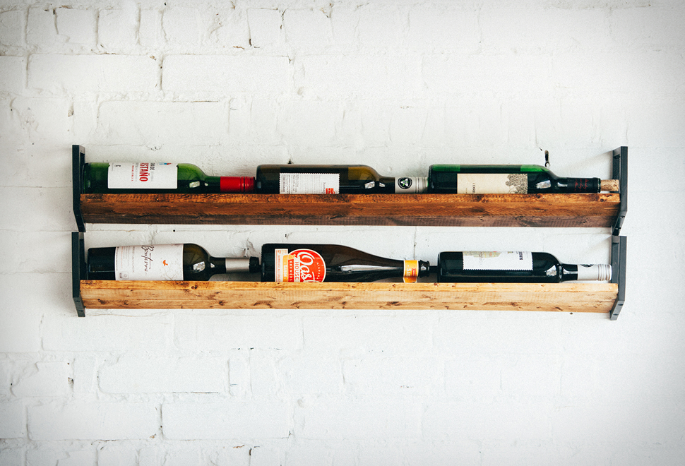 JM & Sons Wall Wine Rack | Image