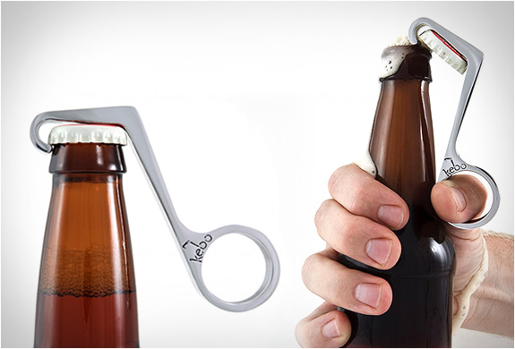 KEBO | THE ONE-HANDED BOTTLE OPENER | Image