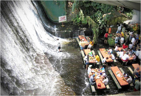 Waterfall restaurant philippines image