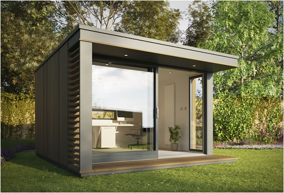 Mini pod garden office for Garden house office