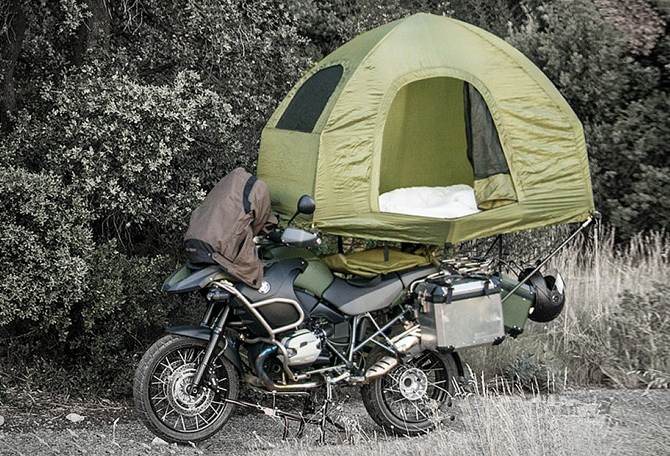 MOBED MOTORCYCLE MOUNTED TENT | Image