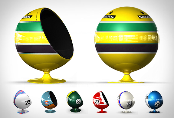 Motorsport Tribute Egg Chairs | Image