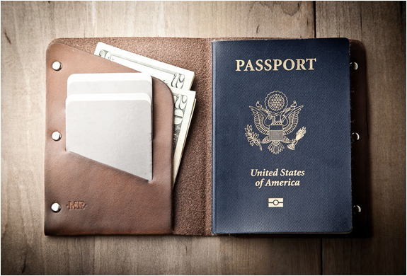 Leather Passport Wallet | By Mr Lentz | Image