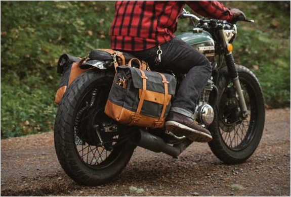 Vintage Motorcycle Saddlebags