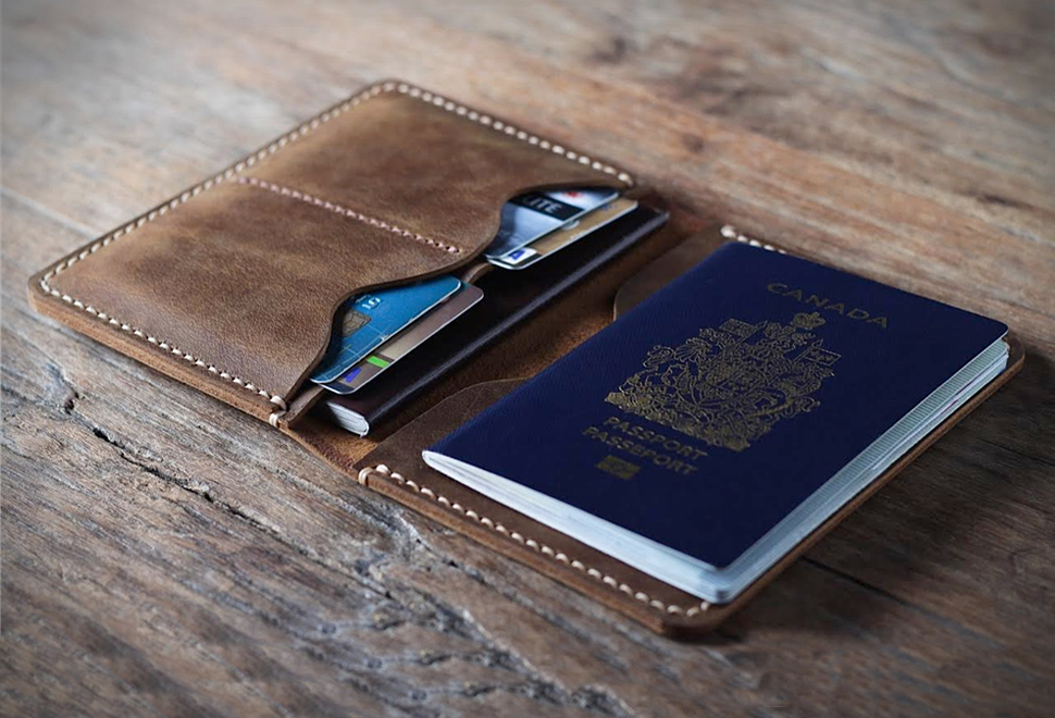PERSONALIZED LEATHER PASSPORT WALLET | Image